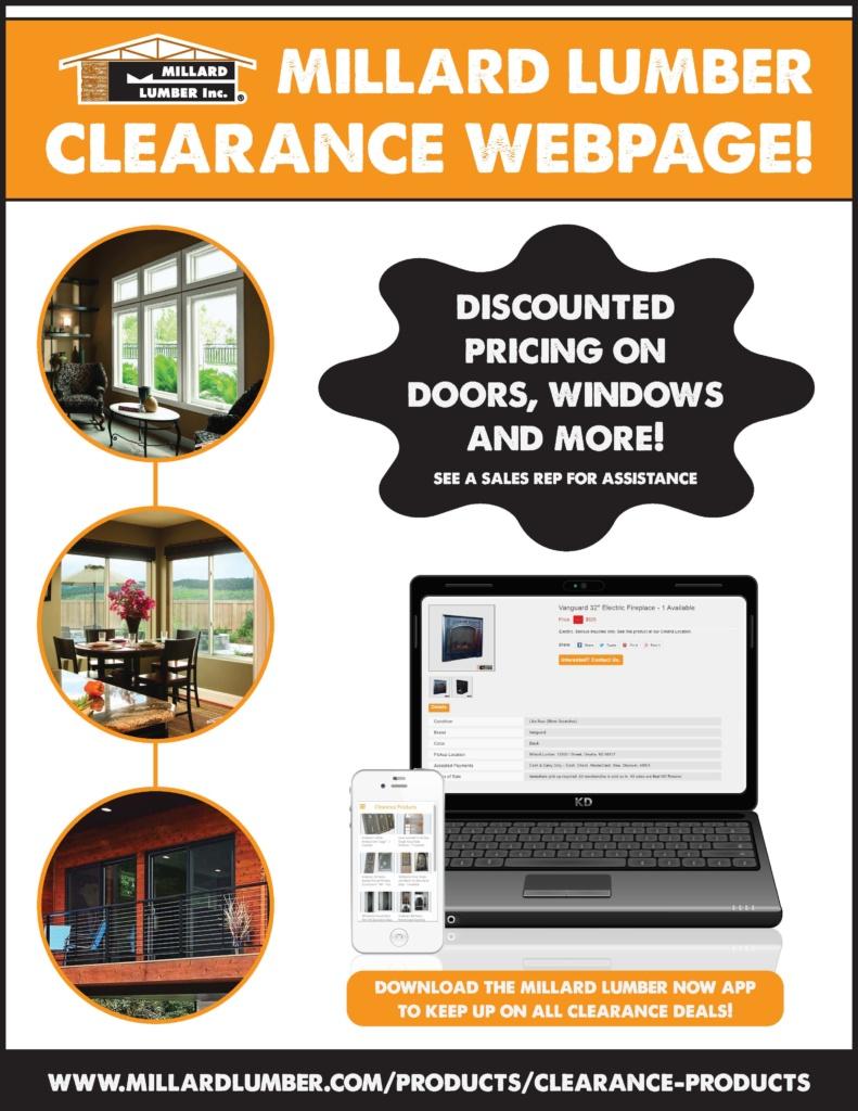 Clearance Products Webpage More Than Lumber Millard Lumber